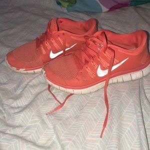 Orange nike tennis shoes!